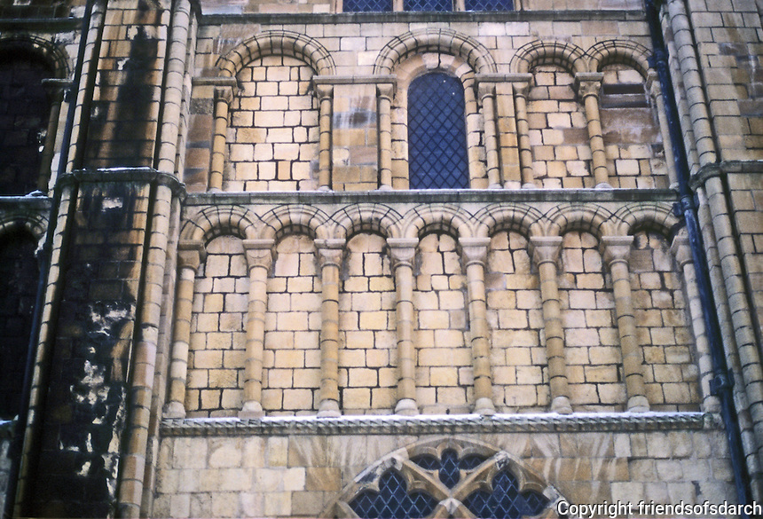 Norwich: Norwich Cathedral--Blind Arches. Photo '90.