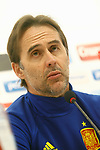Spain's coach Julen Lopetegui  in press conference before training session. March 23,2017.(ALTERPHOTOS/Acero)