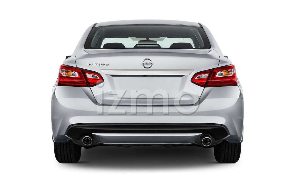 Straight rear view of 2016 Nissan Altima S 4 Door Sedan Rear View  stock images
