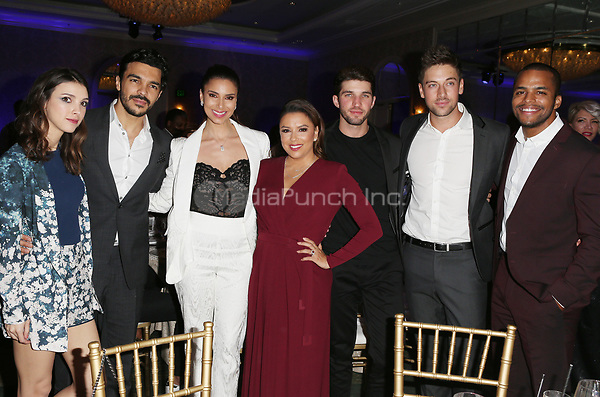 LOS ANGELES, CA - NOVEMBER 8: Denyse Tontz, Roselyn Sanchez, Eva Eva Longoria, Bryan Craig, at the Eva Longoria Foundation Dinner Gala honoring Zoe Saldana and Gina Rodriguez at The Four Seasons Beverly Hills in Los Angeles, California on November 8, 2018. Credit: Faye Sadou/MediaPunch