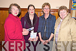 Pictured at the Music for the Soul concert in aid of the Southwest Councelleing centre, Killarney, in the Friary Killarney, on Sunday evening were Breda Sparling, Sarah O'Brien, Mary Coffey and Eithne Sparling.