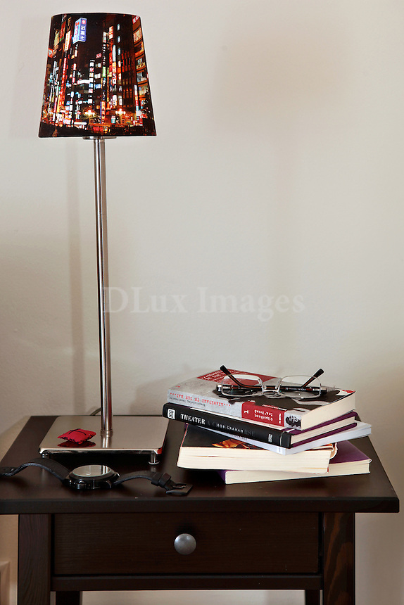 modern lampshade on a side table