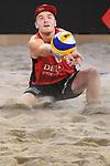 04.01.2019, Den Haag, Sportcampus Zuiderpark<br />Beachvolleyball, FIVB World Tour, 2019 DELA Beach Open<br /><br />Annahme Christian Sorum (#2 NOR)<br /><br />  Foto © nordphoto / Kurth
