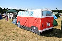 Latitude Festival, Henham Park, Suffolk, UK July 2018. VW camper van tent