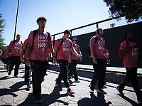 Stanford, CA - September 21, 2019: Team at Stanford Stadium. The Stanford Cardinal fell to the Oregon Ducks 21-6.