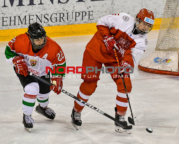 03.01.2020, BLZ Arena, Füssen / Fuessen, GER, IIHF Ice Hockey U18 Women's World Championship DIV I Group A, <br /> Daenemark (DEN) vs Ungarn (HUN), <br /> im Bild Imola Horvath (HUN, #22), Reka Papacsek (HUN, #6)<br /> <br /> Foto © nordphoto / Hafner