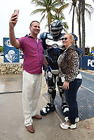 MIAMI BEACH, FL - FEBRUARY 1: FOX SUPER BOWL LIV ACTIVATION AT LUMMUS PARK AND FOX SPORTS SOUTH BEACH STUDIO: Cleatus poses for photos at FOX's weeklong interactive fan experience on the beach in Miami at Lummus Park on February 1, 2020 in Miami Beach, Florida. (Photo by Frank Micelotta/Fox/PictureGroup)