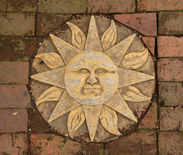 UNITED STATES - OCTOBER 3: A sun paving stone decorates the walkway up to Marilyn Adams' Capitol Hill home on Monday, Oct. 3, 2011. (Photo By Bill Clark/CQ Roll Call)