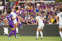 Orlando, FL - Saturday July 15, 2017: Sydney Leroux, Alex Morgan during a regular season National Women's Soccer League (NWSL) match between the Orlando Pride and FC Kansas City at Orlando City Stadium.