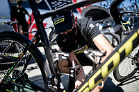 last bike preps ahead of the race at Mitchelton-Scott<br /> <br /> 101st Milano-Torino 2020 (UCI 1.Pro)<br /> 1 day race from Mesero to Stupinigi (198km)