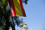Madrid streets decoration with spanish flags the day before Felipe VI coronation as Spain´s King in Madrid, Spain. June 17, 2013. (ALTERPHOTOS/Victor Blanco)