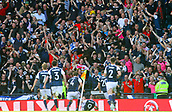 June 10th 2017, Hampden park, Glasgow, Scotland; World Cup 2018 Qualifying football, Scotland versus England; Scotland fans celebrate Leigh Griffiths first goal as he equalises in the 87th minute