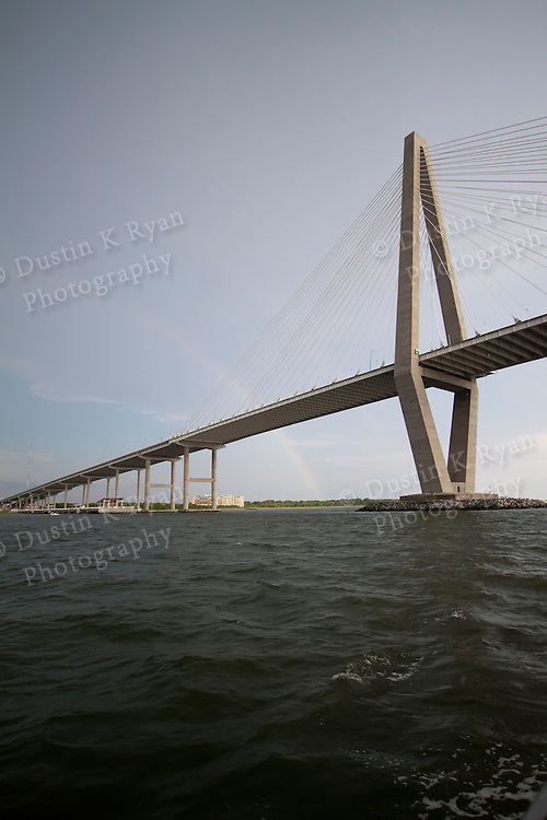 Arthur Ravenel Jr Bridge and Rainbow charleston South Carolina Cooper River Bridge