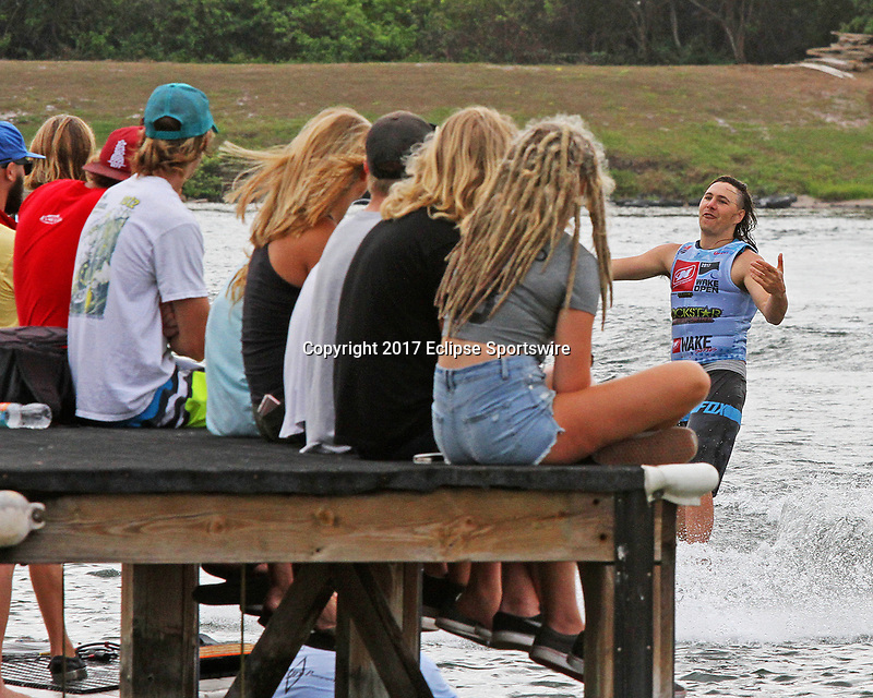 ORLANDO, FL - April 30:  Rider returns from competing. Scenes from  WWA Nautique Wake Series Open 2017 at  the Orlando Watersports Complex on April 30, 2017 in Orlando, Florida. (Photo by Liz Lamont/Eclipse Sportswire/Getty Images)