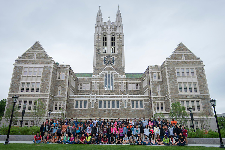 Houston ISD EMERGE students visit Boston College, June 4, 2014.