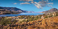 Fine Art Landscape Photograph of the south Okanagan Valley in British Columbia Canada. The picturesque mountains surrounding the blue waters of Skaha Lake beautifully frame this photograph.