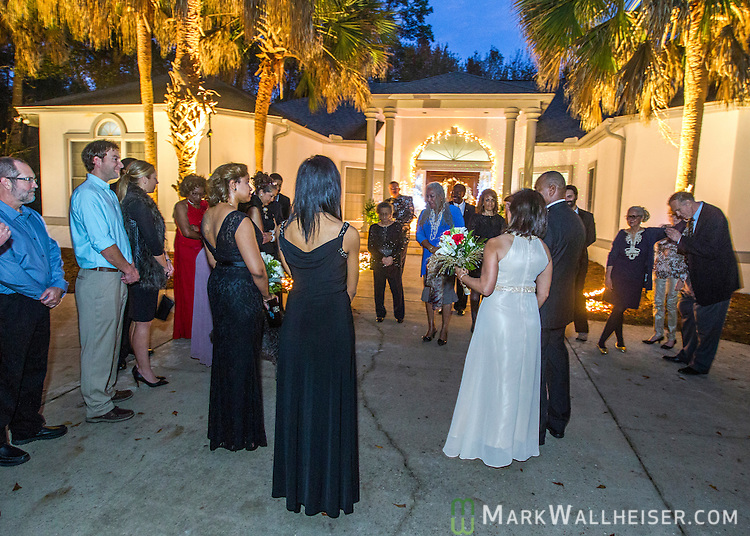 The wedding of Carol Neyland and Frank McMillion at the home of John and Jane Marks in Tallahassee, Florida December 26, 2015.