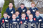 Students from St Marys National School, Abbeyfeale, who were confirmed in Church of the Assumption, Abbeyfeale, last Saturday. Front row l-r: Tristan Hartnett, Jack Breen, Daniel Daly, Stephen Buck and Dean Hartnett. Back row l-r: Ryan ORourke, Keith Hartnett, Tony OKeeffe, Jake Quirke and Christopher Leahy..