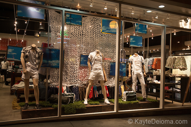 Display window at LASC (Los Angeles Sporting Club) on Santa Monica Blvd, West Hollywood