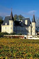 France, Bordeaux Wine Region, Gironde, Chateau Pichon-Longueville, Aquitaine, Europe, Medoc Vineyards.