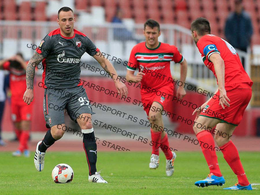Fudbal Jelen Super League season 2014-2015 <br /> Donji Srem v Crvena Zvezda<br /> Petar Orlandic (L)<br /> Novi Sad, 29.04.2015.<br /> foto: Srdjan Stevanovic/Starsportphoto&copy;