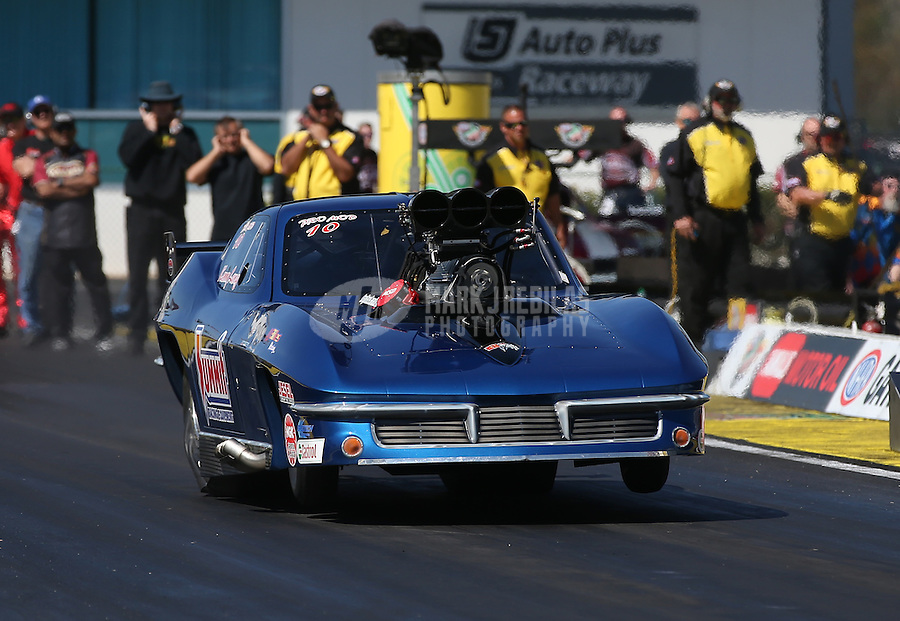 Mar. 16, 2013; Gainesville, FL, USA; NHRA pro mod driver Kenny Lang during qualifying for the Gatornationals at Auto-Plus Raceway at Gainesville. Mandatory Credit: Mark J. Rebilas-