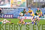 Kerry's Shane O'Connor gets away from Clare's Jack O'Dea at Austin Stack park, Tralee on Saturday.