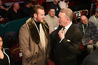 Ben Davison (L) and Frank Warren during a Boxing Show at the Royal Albert Hall on 8th March 2019