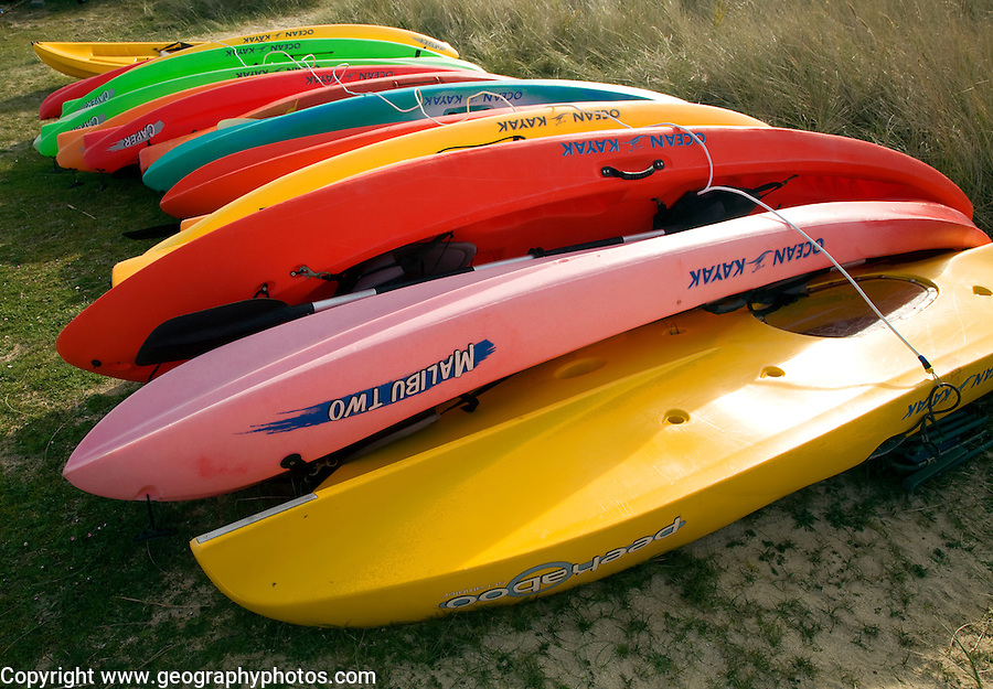 Kayaks, Island of Herm, Channel Islands, Great Britain