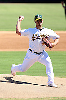 Joey Devine - Oakland Athletics - 2010 Instructional League.Photo by:  Bill Mitchell/Four Seam Images..