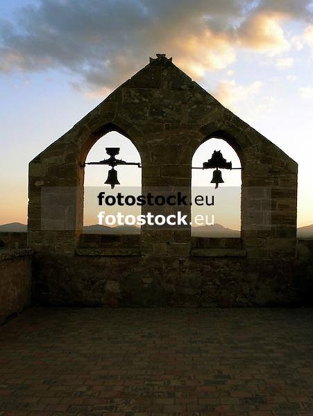 bell gable of the church &quot;Our Lady of Good Hope&quot; at the Capdepera Castle<br /> <br /> campanario de la iglesia &quot;Nuestra Se&ntilde;ora de la Esperanza&quot; (cat.: Nostra Senyora de la Esperan&ccedil;a) en el Castillo de Capdepera<br /> <br /> Glockenstuhl der Kirche &quot;Unsere Frau der guten Hoffnung&quot; auf der Burg von Capdepera<br /> <br /> 3598 x 2703 px