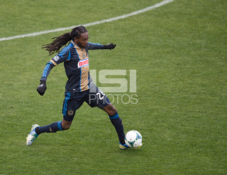 Keon Daniel.  The Philadelphia Union defeated the New England Revolution, 1-0, at PPL Park in Chester, PA.