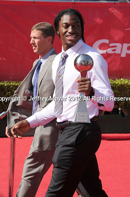 LOS ANGELES, CA - JULY 11: Robert Griffin III arrives at the 2012 ESPY Awards at Nokia Theatre L.A. Live on July 11, 2012 in Los Angeles, California.