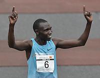 BOGOTÁ -COLOMBIA. 28-07-2013. Geoffrey Kipsang (Kenia) fue el ganador de la Media Maratón de Bogotá 2013 con un tiempo de 1.03:46 y en mujeres Priscah Jeptoo (Kenia)con un ntiempo de 1.12:24. / Geoffrey Kipsang (Kenya) won the  Half Marathon of Bogota 2013 with a time of 1.03:46 and in women the winner was Priscah Jeptoo (Kenya) with a time of 1.12:24. Photo: VizzorImage / Str