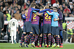 FC Barcelona's team celebrate victory during La Liga match. March 02,2019. (ALTERPHOTOS/Alconada)