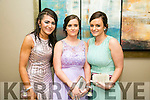Enjoying the Rathmore Debs at Ballyroe Heights Hotel on Tuesday were Gobnait O Sullivan, Joanne Brosnan and Sarah Brosnan