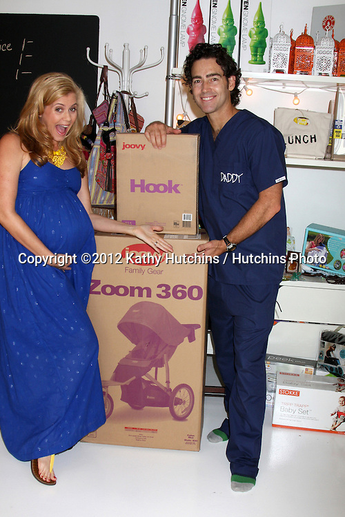 """LOS ANGELES - OCT 21:  Christie Lynn Smith, husband John Fortson at the baby shower supporting """"Celebrate the Military Child""""for Christie Lynn Smith at The Coop on October 21, 2012 in Studio CIty, CA"""