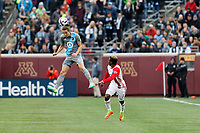 Minneapolis, MN - Saturday, April 29, 2017: Minnesota United FC played the San Jose Earthquakes in a Major League Soccer (MLS) game at TCF Bank stadium. Final score Minnesota United FC 0, San Jose Earthquakes 1