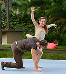 Pontus Lidburg dance company performs in the outdoor garden the Rockefeller Brothers Funds' Pocantico Center, August 8, 2014