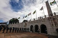 SAO PAULO, SP, 09 JULHO 2012 - 80 ANOS REVOLUCAO DE 1932 - Cerimonia de solenidade alusiva ao 80º aniversario da Revolução Constitucionalista de 1932, na regiao do Parque do Ibirapuera, regiao sul da capital paulista, nesta segunda-feira, 09. (FOTO: VANESSA CARVALHO / BRAZIL PHOTO PRESS).
