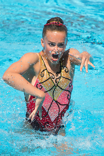 Kate Shortman (GBR),<br /> JULY 19, 2017 - Synchronized Swimming :<br /> 17th FINA World Championships 2017 Budapest Women's Solo Free Routine Final round at City Park - Varosliget Lake in Budapest, Hungary. (Photo by Enrico Calderoni/AFLO)