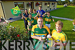 Divided loyalty's in the Brosnan family as Kerry play Donegal in the all Ireland Final. Pictured Terry Brosnan, (kerry) and Frances Brosnan (Donegal) Back left to right, Joshua Lynch, Grainne Shanahan,  Mary Shanahan, Stephanie Griffin, Frances Griffin, Daragh Shanahan, Aodhan Shanahan