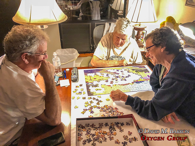 John, Betty & Debora Working On Puzzle