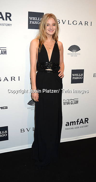 Amanda Norgaard attends the amfAR New York Gala on February 5, 2014 at Cipriani Wall Street in New York City.