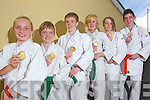 Six of the seven children from Kerry School of Judo, who won gold medals in the National Community Games Finals in Athlone at the weekend .Front row: Carrie O'Connor, Aaron O'Brien, Cillian Brosnan, Rachel Patton, Sadhbh Brosnan and Ryan O'Sullivan, Missing from photo is Diane Cooper..