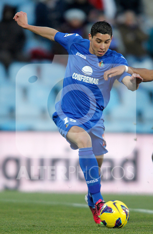 Getafe's Abdel Barrada during La Liga match. February 01, 2013. (ALTERPHOTOS/Alvaro Hernandez)