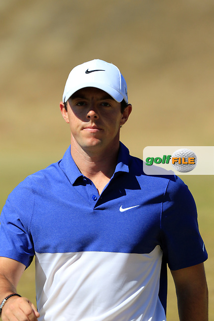 Rory MCILROY (NIR) walks off the 17th green during Sunday's Final Round of the 2015 U.S. Open 115th National Championship held at Chambers Bay, Seattle, Washington, USA. 6/21/2015.<br /> Picture: Golffile | Eoin Clarke<br /> <br /> <br /> <br /> <br /> All photo usage must carry mandatory copyright credit (&copy; Golffile | Eoin Clarke)