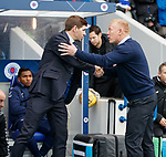 24.11.2018 Rangers v Livingston: Steven Gerrard and Gary Holt