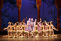 London, UK. 12.01.2016. English National Ballet present Le Corsaire, at the London Coliseum. Picture shows: Laurretta Summerscales (Medora), Michael Coleman (Pasha), Ksenia Ovsyanick (Gulnare). Photograph © Jane Hobson.