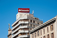 Santander Bank building Palma, Majorca. September 2012.